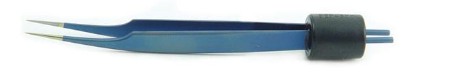 Blue Titanium Jewelers Angled Bipolar Forceps